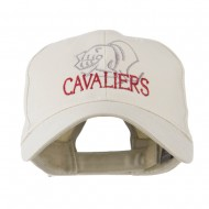 Cavaliers Mascot Embroidered Cap - Stone
