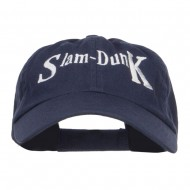 Slam Dunk Basketball Embroidered Low Profile Cap - Navy