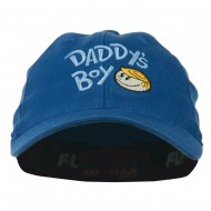 Daddy's Boy Embroidered Youth Flexfit Garment Washed Cap - Royal
