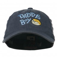 Daddy's Boy Embroidered Youth Flexfit Garment Washed Cap - Navy