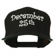 December 25th Christmas Embroidered Cap - Black