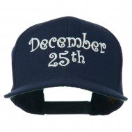 December 25th Christmas Embroidered Cap - Navy