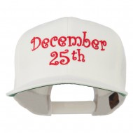 December 25th Christmas Embroidered Cap - Natural