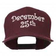 December 25th Christmas Embroidered Cap - Maroon