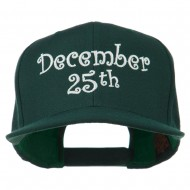 December 25th Christmas Embroidered Cap - Spruce