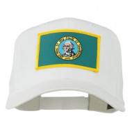 State of Washington Embroidered Patch Cap - White