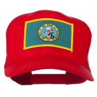 State of Washington Embroidered Patch Cap - Red