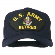 US Army Retired Military Patched Cap - Navy