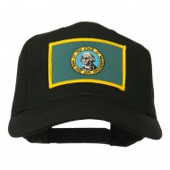 State of Washington Embroidered Patch Cap - Black