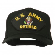 US Army Retired Military Patched Cap - Black