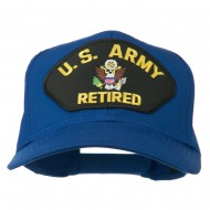 US Army Retired Military Patched Cap - Royal