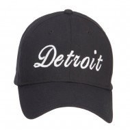 City of Detroit Embroidered Cotton Cap - Black