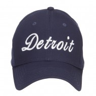 City of Detroit Embroidered Cotton Cap - Navy
