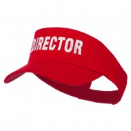 Director Embroidered Sun Visor - Red