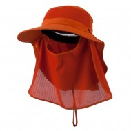 UV 50+ Talson Large Bill Flap Hat with Detachable Inner Flap - Orange