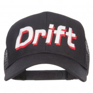 Drift Racing Embroidered Mesh Cap - Black