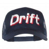 Drift Racing Embroidered Mesh Cap - Navy