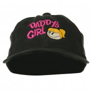 Daddy's Girl Embroidered Youth Flexfit Garment Washed Cap - Black