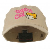 Daddy's Girl Embroidered Youth Flexfit Garment Washed Cap - Khaki