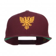 Double Headed Eagle Embroidered Snapback Cap - Maroon