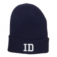ID Idaho State Embroidered Long Beanie - Navy