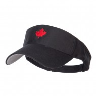 Canada Maple leaf Embroidered Sports Visor - Black