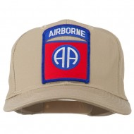 82nd Airborne Military Patched Cap - Khaki