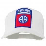 82nd Airborne Military Patched Cap - White