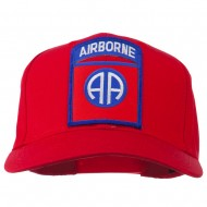 82nd Airborne Military Patched Cap - Red