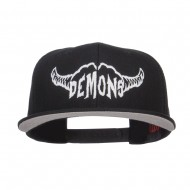 Demons Embroidered Cotton Snapback - Black