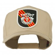 US Army Special Forces De Oppresso Liber Patched High Profile Cap - Khaki