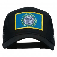 South Dakota Flag Patched Mesh Cap - Black