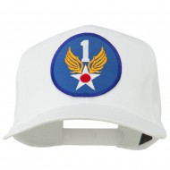 1st Air Force Division Patched Cotton Twill Cap - White