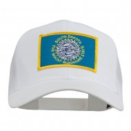 South Dakota Flag Patched Mesh Cap - White