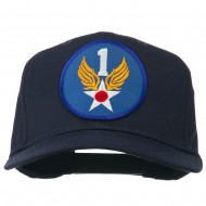 1st Air Force Division Patched Cotton Twill Cap - Navy