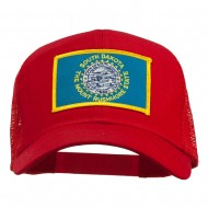 South Dakota Flag Patched Mesh Cap - Red