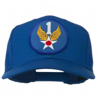 1st Air Force Division Patched Cotton Twill Cap - Royal