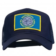South Dakota Flag Patched Mesh Cap - Navy
