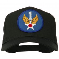 1st Air Force Division Patched Cotton Twill Cap - Black