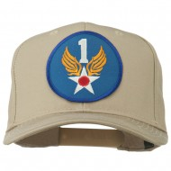 1st Air Force Division Patched Cotton Twill Cap - Khaki