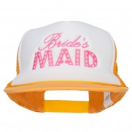Bridesmaid Embroidered Foam Trucker Cap - Yellow White