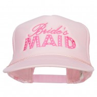 Bridesmaid Embroidered Foam Trucker Cap - Pink