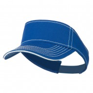 Contrast Stitch Sandwich Visor - Royal