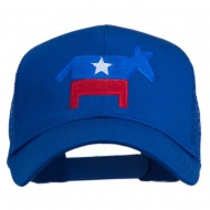 The Democratic Donkey Embroidered Mesh Cap - Royal