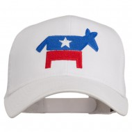 The Democratic Donkey Embroidered Mesh Cap - White