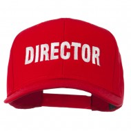 Director Embroidered Cotton Twill Cap - Red