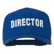 Director Embroidered Cotton Twill Cap - Royal