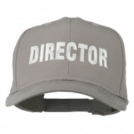 Director Embroidered Cotton Twill Cap - Grey