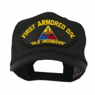 US Army Division Military Large Patched Cap - First Armored