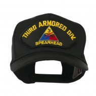 US Army Division Military Large Patched Cap - Third Armored